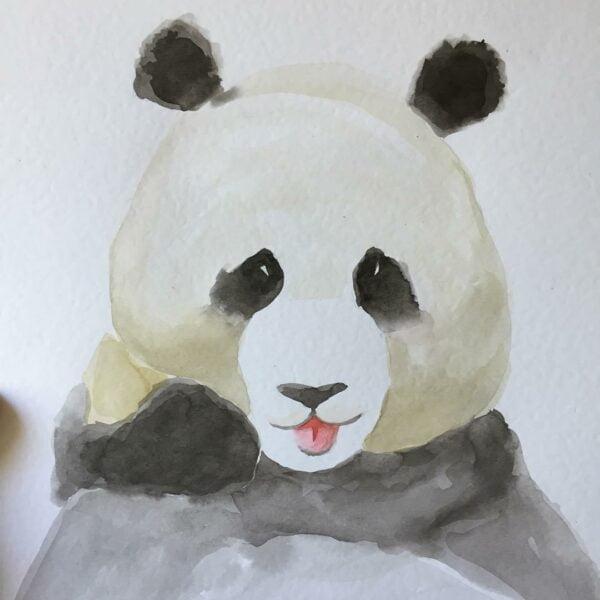 aguarela-a4-panda-tutu-illustration