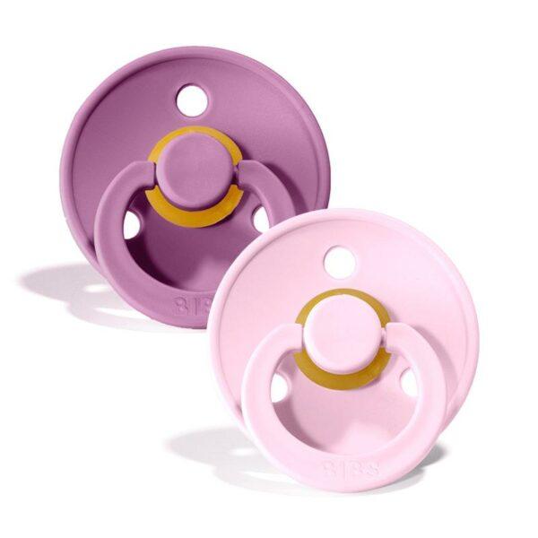 bibs-pack 2 chuchas-lavander/baby pink
