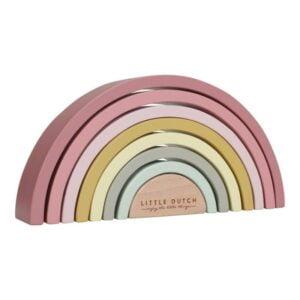 empilhador-arco-iris-rosa-velho-little-dutch