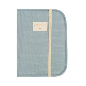 porta-documentos-azul favos de mel -nobodinoz