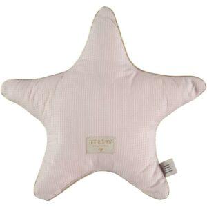 aristote-star-cushion-dream-pink-honeycomb-estrela-almofada-rosa-claro-nobodinoz