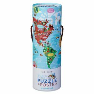 sigToys-puzzle + poster em tubo 200 peças-cidade do mundo