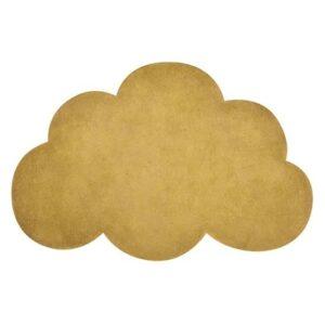 tapete-nuvem-mostarda-algodão-lilipinso
