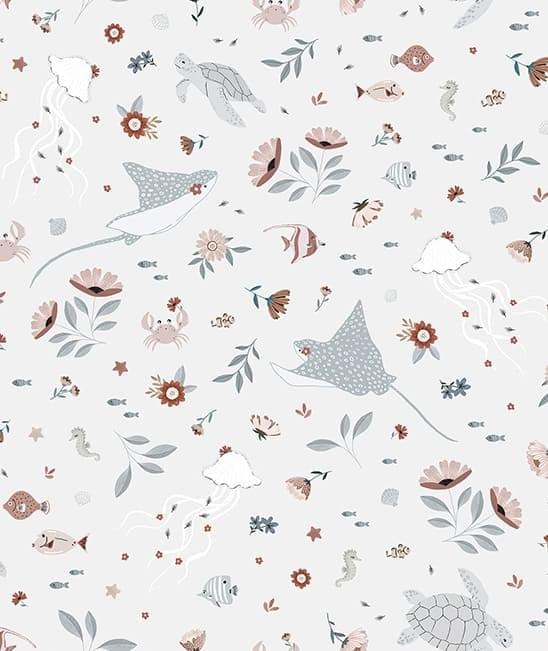 h0604-papel-parede-lilipinso-flores-animais-aquaticos