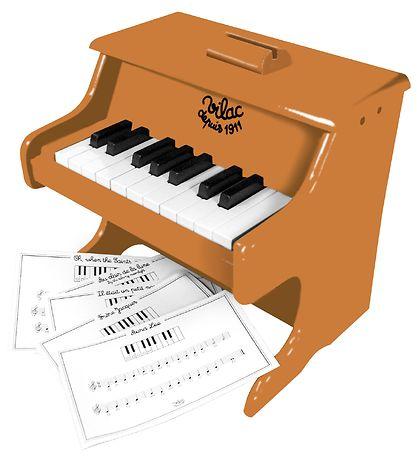 vilac-piano de madeira castanha